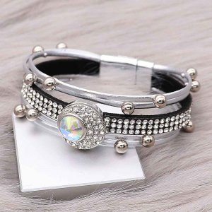 20MM design snap charms Silver Plated with Colorful rhinestone  KC9204 snaps jewelry