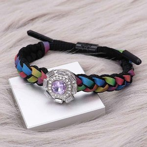1 buttons Colorful Rope  KC0516 new type Bracelet fit 20mm snaps chunks