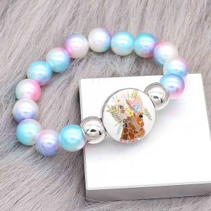 colorful beads kids junior style  bracelets Fit 18/20mm snaps chunks CH3022