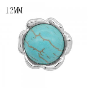 12MM design metal snap with Blue tophus KS7123-S charms snaps jewelry