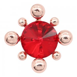 20MM  snap Rose Gold with Red rhinestone charms KC8091 snaps jewelry