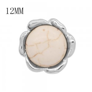 12MM design metal snap with White tophus KS7121-S charms snaps jewelry