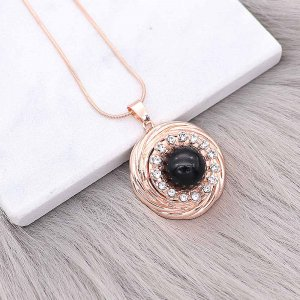 20MM design snap Rose Gold plated With white rhinestones charms KC8102 snaps jewelry