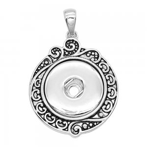 snap sliver Pendant fit 20MM snaps style jewelry KC0477
