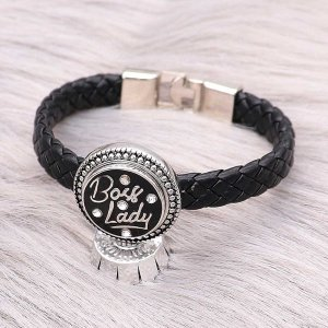 20MM snap silver Plated With strass avec émail noir charms KC9311 snaps jewerly