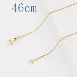46CM high quality Stainless steel  Round Snake Gold Chain necklace