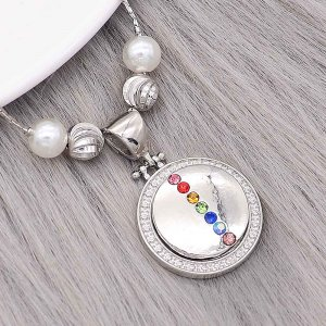 20MM snap Silver Plated With Multicolor rhinestones charms KC8145 snaps jewerly