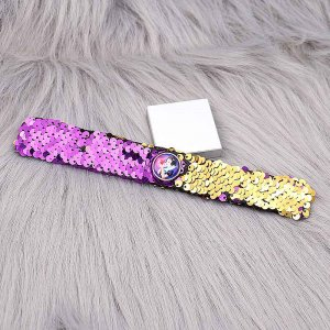 Mermaid Changeable color children's sequins, clapping rings, bracelets, stage festival Christmas gifts fashion snap jewelry