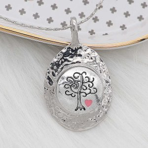 20MM Wisdom Tree snap Silver Plated  enamel of love charms KC8164 snaps jewerly