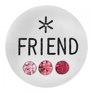 20MM Friend snap Silver Plated With rose-red rhinestones charms KC8173 snaps jewerly