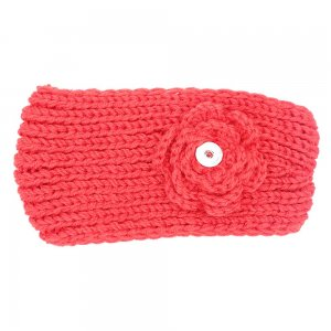 Winter Knit Headband fit 18mm Druckknopf beige