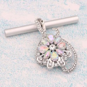 20MM design snap Silver Plated With Mulitcolor rhinestones charms KC9335 snaps jewerly