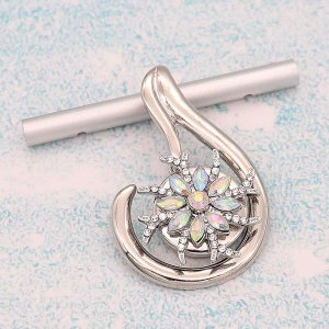 20MM design snap Silver Plated With Mulitcolor rhinestones charms KC9347 snaps jewerly