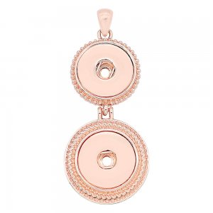 Two snap Rose Gold Pendant fit 20MM snaps style jewelry KC0484
