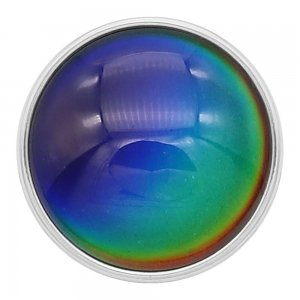 Heat Discoloration 20mm snap glass charms 7 color Multicolor