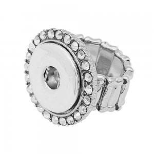 1 buttons snap Elastic with Rhinestone Ring fit snaps jewelry KC1323