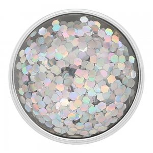 20MM design snap Silver Plated silvery Glittering resin KC2224