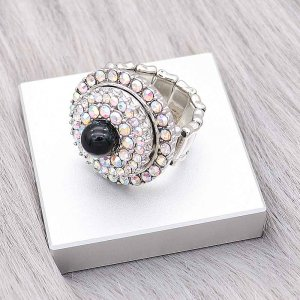 1 buttons snap Elastic with Rhinestone Ring fit snaps jewelry KC1322