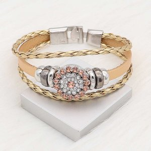 20MM snap silver Plated with orange Rhinestone KC8278