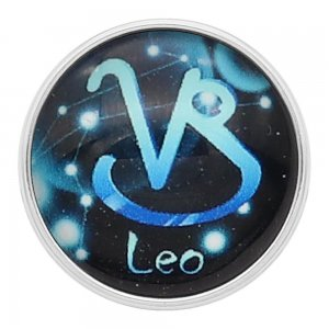 20MM Leo snap 12constellations glass KC2237
