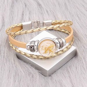 Gold  Leather Snap bracelets KC0532  fit 20mm snaps chunks 1 button