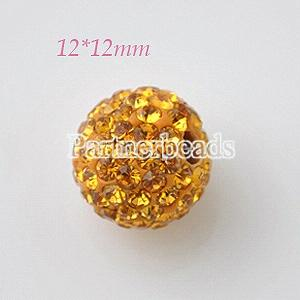 12*12mm Golden Rhinestone beads