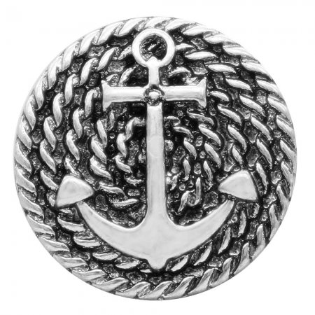 20MM anchor snap silver Plated KC7773 snaps jewerly