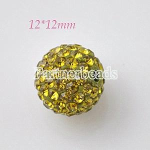 Perles strass vertes 12 * 12mm
