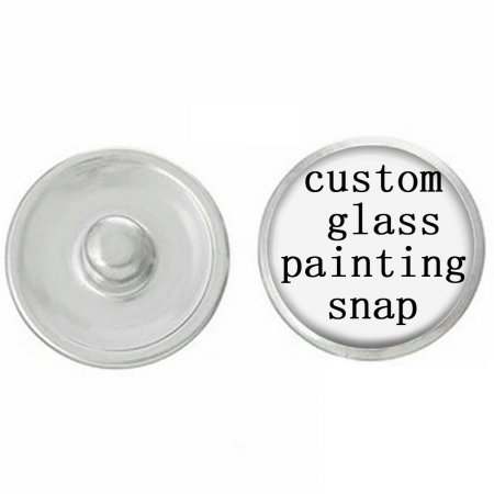 20MM Custom  glass printing pictures Snap button  MOQ 140PCS