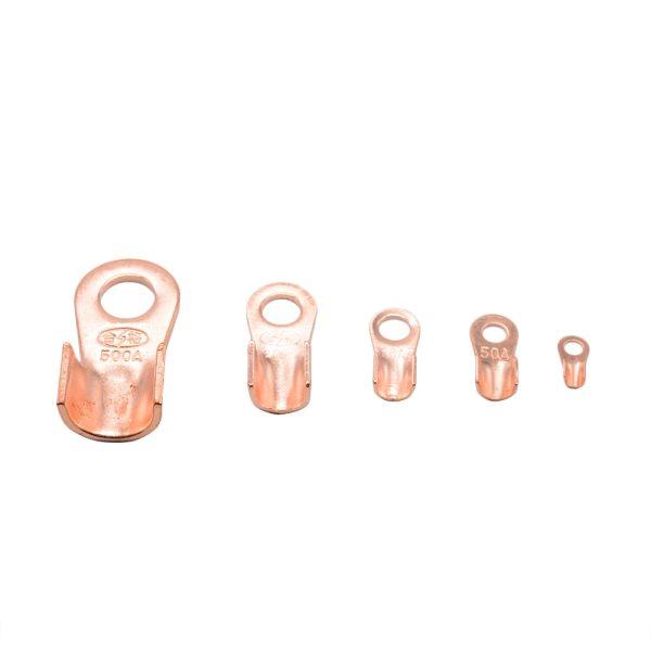 1pcs/lot OT-50A 60A 80A 100A 150A 200A Dia Copper Circular Splice Terminal Wire Naked Connector  Copper parts