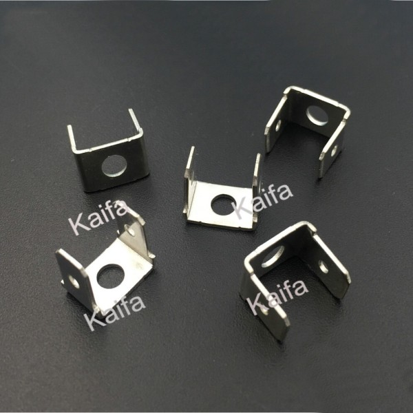 100pcs/lot 6.3  bilateral double insert the male terminal capacitance inserts PCB circuit board  welding piece