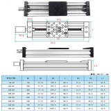 3D Printer Z Axis c-beam T8 Lead Screw OD 8mm Pitch 2mm 150mm 200mm 250mm 300mm CNC sliding table linear actuator bundle kit