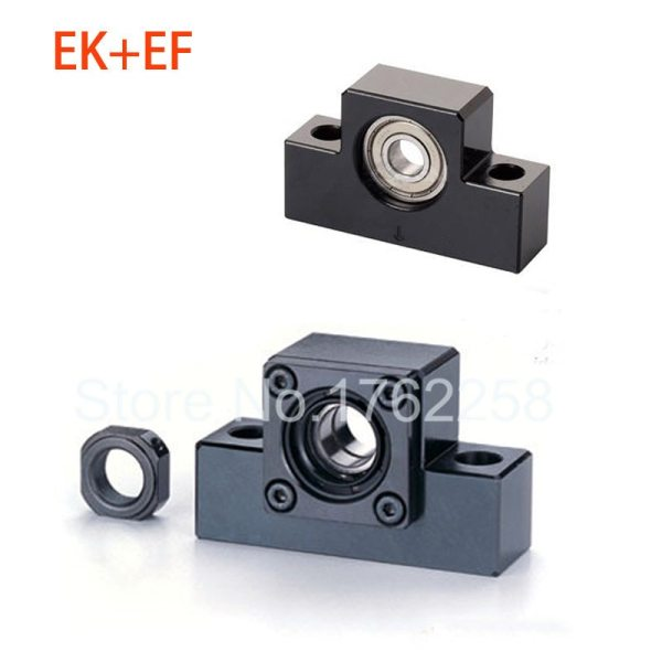 EK10 EF10 Ball Screw End Support Set : 1 pc Fixed Side EK10 and 1 pc Floated Side EF10 for SFU1204 Ball Screw CNC parts