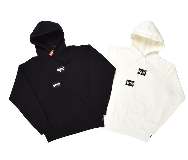 supreme 18fw CDG Split Box Logo Hooded パーカー