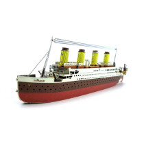 Colorful Titanic Mini Model 3D Puzzle DIY Assembly Toy Ship