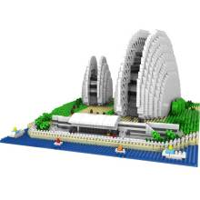 Shell Opera House Famous Architecture Model Blocks
