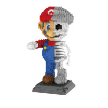 Mario & Skeleton Action Figure Blocks Model