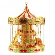 Golden Merry-go-round Metal Model Adult Assembly Puzzle