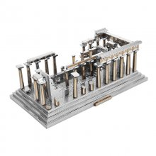 Greek temple Building Model 3D Jigsaw DIY Toys Mini Metal Puzzle