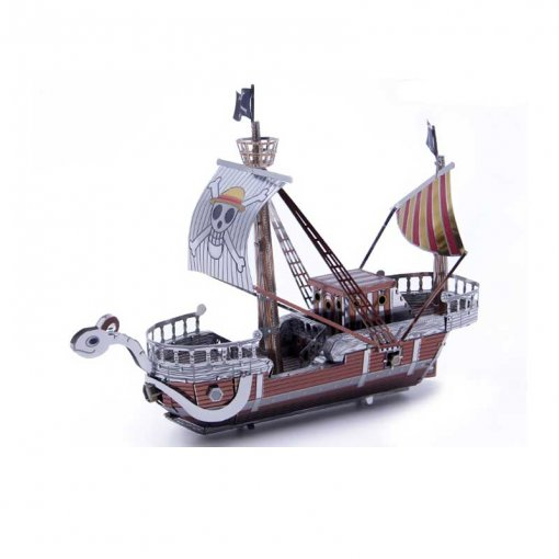 Colorful Golden Merry Laser Cut Metal Puzzle 3D Model Ship Toys Collection