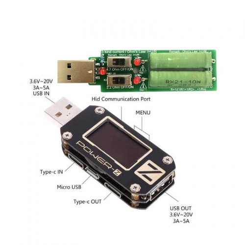 Multi-Function USB Tester for Type-C Micro USB Digital Voltmeter Power-Z