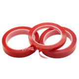 Red Double Sided Adhesive tape High Strength Acrylic Transparent No Traces Sticker