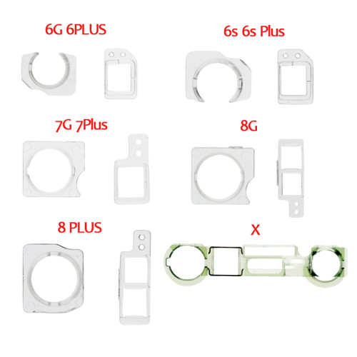 100PCS/lot Proximity Sensor Front Facing Camera Plastic Holder Clip And Cap Holder Lens Clip Ring For iPhone 5S 6/6P 6S/ 6SP 7G 7P Replacement Parts