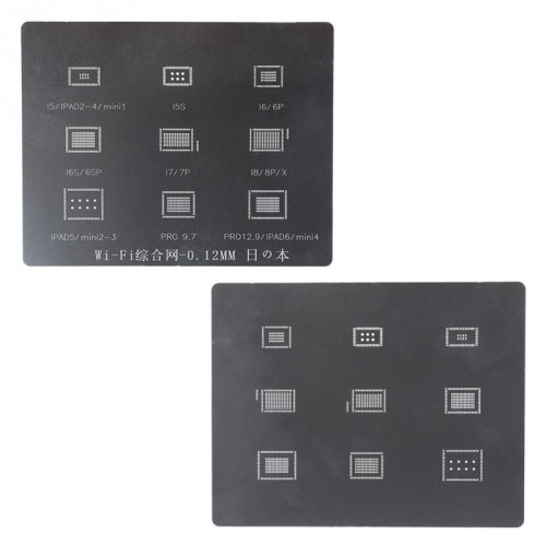 MiJing Square Stencil IPH1 - IPH12-2 stencil for iPhone iPad Nand/CPU/wifi/IC chips