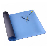 Blue anti-static mat 50*70cm with ESD wrist thickness:2mm with Ground wire