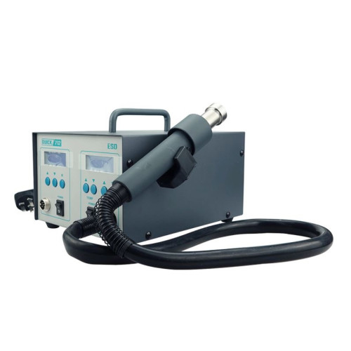 QUICK712 2 in 1 free ESD 1000W hot air station + Iron station for mobile phone base plate welding and desoldering tool