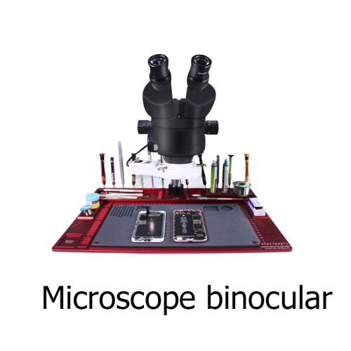 Microscope binocular With Aluminum Alloy Pad for Mobile Phone Soldering Repair without camera