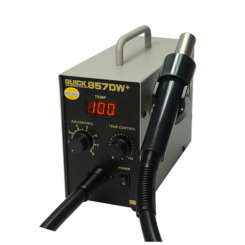 QUICK 857DW+ lead free adjustable hot air heat gun SMD ESD Soldering Station