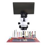 Mouse Control 11.6  Tablet PC Industrial Digital Microscopio Camera monitor 0.5 2X 3.5X 7X 45X 90X Continuous trinocular microscope