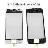 3 in 1 Cold Pressed Glass+Frame+OCA for iPhone 5G to 8Plus XR 11
